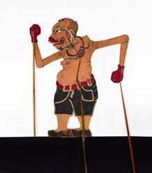 Shadow Puppet (Wayang Kulit) of a Boxer or Tinju