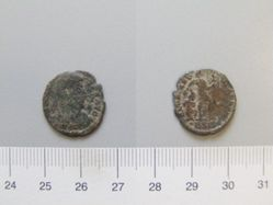 Coin of Valentinian I, Emperor of Rome from Siscia