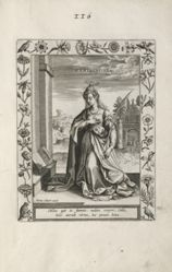 Saint Emerence, 1 of 25 plates from the series Martyrologium Sanctarum Virginum (Female Martyr Saints)