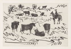 Toros en el campo (Bulls in the Field), from the series La tauromaquia