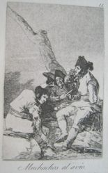 Muchachos al avío. (Lads Making Ready.), pl. 11 from the series Los caprichos
