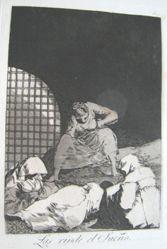 Las rinde el sueño. (Sleep Overcomes Them.), pl. 34 from the series Los caprichos