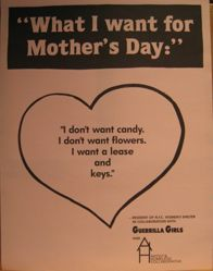 What I want for Mother's Day, from the Guerrilla Girls' Compleat 1985-2008