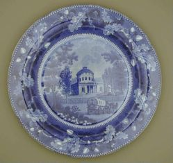 Plate with a view of Philadelphia, Water Works