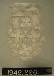 "End of a lappet in ""sol"" lace"