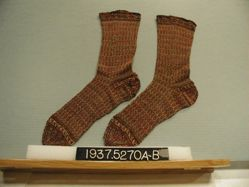 Pair of knitted wool socks