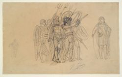 """Preparatory study for """"Ave Caesar, Morituri te Salutant"""" (Hail Caesar! We who are about to die salute you)"""
