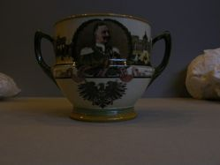 Mettlach Terrine with portraits of Kaiser Wilhelm II and Augusta Victoria