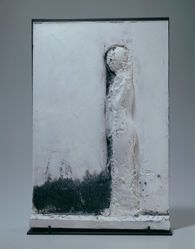 Mujer Pegada-Maquette for Marble Relief III