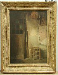 Interior Corner--Door and Rush-Seat Stool