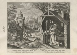 Cometa and Nicosia, one of 24 prints from the series Solitudo Sive Vitae Foeminarum Anachoritarum (Female Hermits in Landscapes)