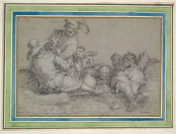 Peasants Drinking and Resting