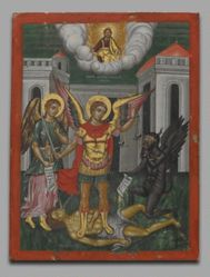 Saint Michael Weighing a Soul