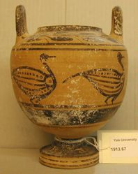 Black-figure pyxis
