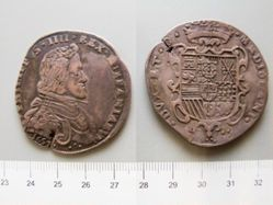 Silver Scudo of Philip IV from Milan