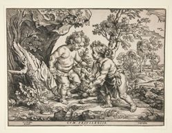 Christ and St. John as Children Playing with a Lamb
