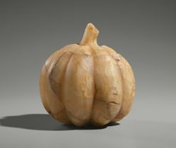 Lidded Vessel in the Shape of a Squash