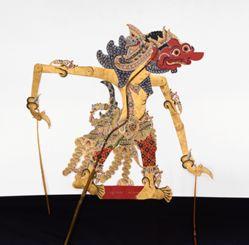 Shadow Puppet (Wayang Kulit) of Bukbis Mukosuro, from the consecrated set Kyai Nugroho