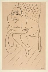 Nu au Rocking Chair (Nude Seated in a Rocking Chair)