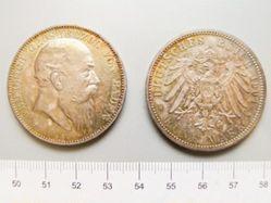 5 Marks of Friedrich I, Großherzog von Baden from Karlsruhe