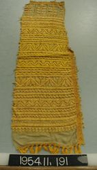 Length of silk cloth, embroidered