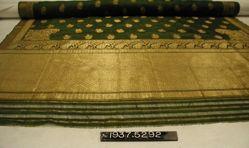 Sari of brocaded plain cloth