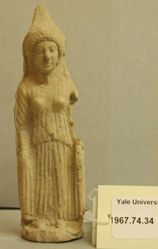 Figurine of a woman.