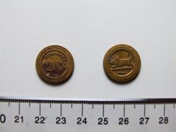 A Consommer token from country fair