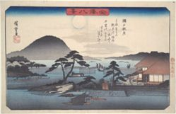 Eight Views of Kanazawa #3: Autumn Moon at Seto