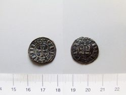 Billon denier of William I or Guy de la Roche from Thebes