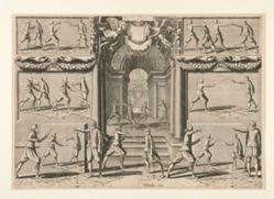 Four plates from L'Academie de L'Epee (The Art of Fencing)