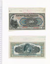 20 Bolivianos of El Banco Nacional de Bolivia from Bolivia