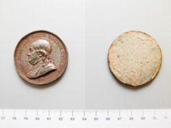Uniface lead (?) medal of Benjamin Franklin