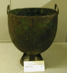 Urn with two handles (Helmet shaped bowl on openwork pedestal)