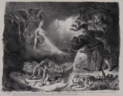 L'ombre de Marguerite apparaissant à Faust (Marguerite's Ghost Appearing to Faust), from Johann Wolfgang von Goethe's Faust