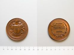 Bronze medal of the Society of Arts and Crafts, Boston, presented to Karl F. Leinonen in 1918