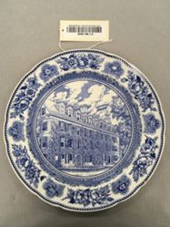 Plate with view of Connecticut Hall