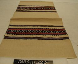 Runner of cotton cloth with compound cloth borders