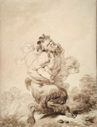 A Satyr Teased by Two Putti