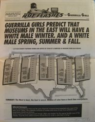 Hot Flashes newsletter, numbers 2 + 3 Double Issue from the portfolio Guerrilla Girls' Compleat 1985-2008