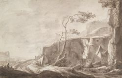 Rocky Landscape with a Stream