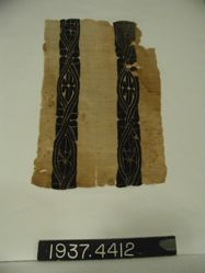 Fragment of cloth with tapestry insets.