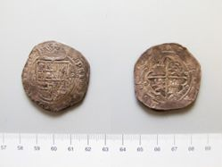 Silver 8 Reales of Philip II from Toledo