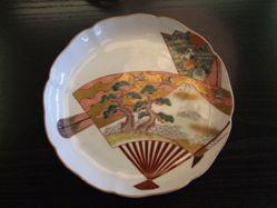 Dish with Fan decor