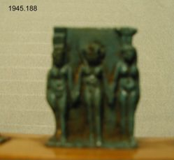 A triad of Isis Horus and Nephyts