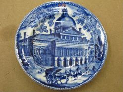 Cup Plate with View of Boston State House
