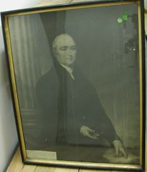 Framed Photograph of Trumbull Portrait of Timothy Dwight