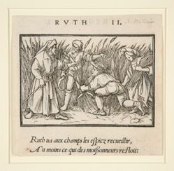 Ruth Cleaning in the Fields of Booz (recto); Hannah and Elkanah (verso)