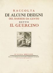 Title page, with Saint Jerome, plate 1, from Raccolta di alcuni disegni del Barberi [sic] da Cento detto il Guercino (Collection of Some Drawings Engraved after Barbieri da Cento, called Guercino)