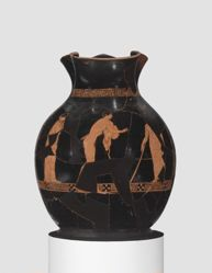 Red-figure oinochoe (chous)